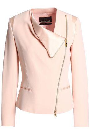 ROBERTO CAVALLI Satin-trimmed crepe jacket