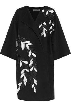 OSCAR DE LA RENTA Embellished wool and cashmere-blend jacket