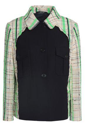 MAISON MARGIELA Twill-paneled cotton-blend bouclé-tweed blazer