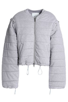 3.1 PHILLIP LIM Convertible quilted cotton-jersey bomber jacket