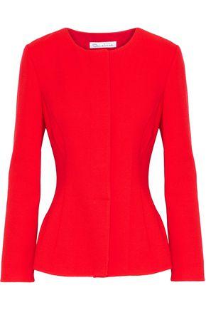 OSCAR DE LA RENTA Wool-blend peplum jacket