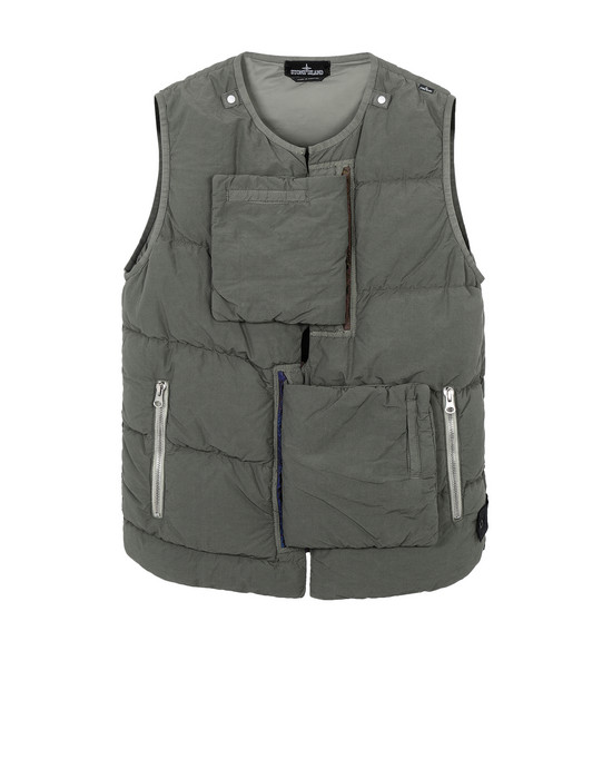 G0102 ENCASE PANEL DOWN VEST (NASLAN LIGHT) SINGLE LAYER FABRIC - GARMENT DYED WITH ANTI-DROP AGENT