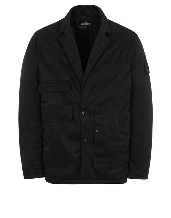 Blazer A0105 ASYMMETRIC UTILITY BLAZER WITH STRATA POCKET (POLY-OPTIMA) SINGLE LAYER FABRIC - HIGH PRESSURE GARMENT DYEING WITH ANTI-DROP AGENT  STONE ISLAND SHADOW PROJECT - 0