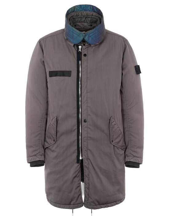 STONE ISLAND SHADOW PROJECT CAPOSPALLA LUNGO 70501 DOWN FISHTAIL PARKA CON DROP POCKET (D-NW) MATERIALE A STRATO SINGOLO - TINTO IN CAPO CON AGENTE ANTIGOCCIA