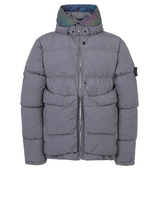 休闲夹克 40502 ENCASE PANEL DOWN JACKET (NASLAN LIGHT) SINGLE LAYER FABRIC - GARMENT DYED WITH ANTI-DROP AGENT STONE ISLAND SHADOW PROJECT - 0