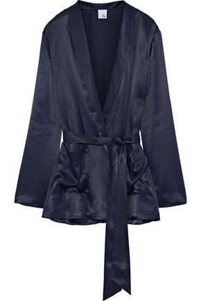 IRIS & INK Shannon satin-twill jacket