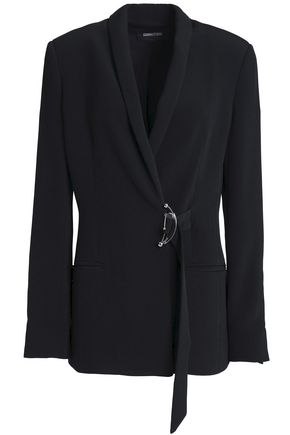 CUSHNIE ET OCHS Bruna buckled stretch-crepe blazer