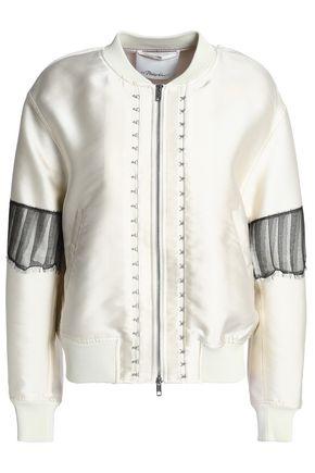 3.1 PHILLIP LIM Mesh-trimmed embellished cady bomber jacket
