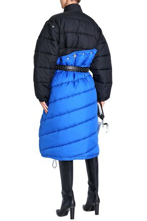 3.1 PHILLIP LIM Two-tone quilted shell down coat