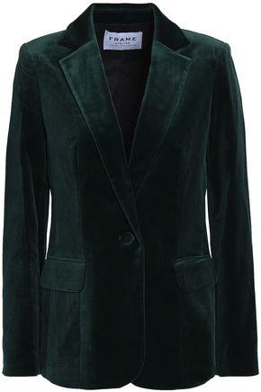 FRAME Cotton-blend velvet blazer