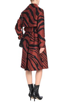 ROBERTO CAVALLI Zebra-print cotton and silk-blend trench coat