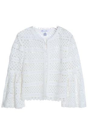 OSCAR DE LA RENTA Fluted cotton-lace jacket