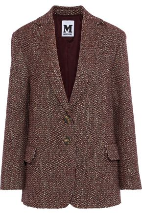 M MISSONI Wool and silk-blend tweed blazer