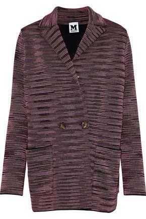 M MISSONI Double-breasted metallic crochet-knit jacket