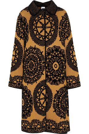 M MISSONI Flocked metallic jacquard-knit coat