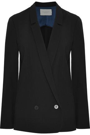 HALSTON HERITAGE Double-breasted twill blazer