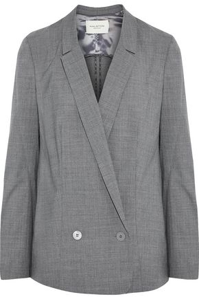 HALSTON HERITAGE Double-breasted wool-blend blazer