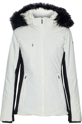 FUSALP Two-tone faux fur-trimmed quilted shell hooded jacket