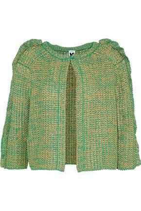M MISSONI Cropped metallic crochet-knit jacket