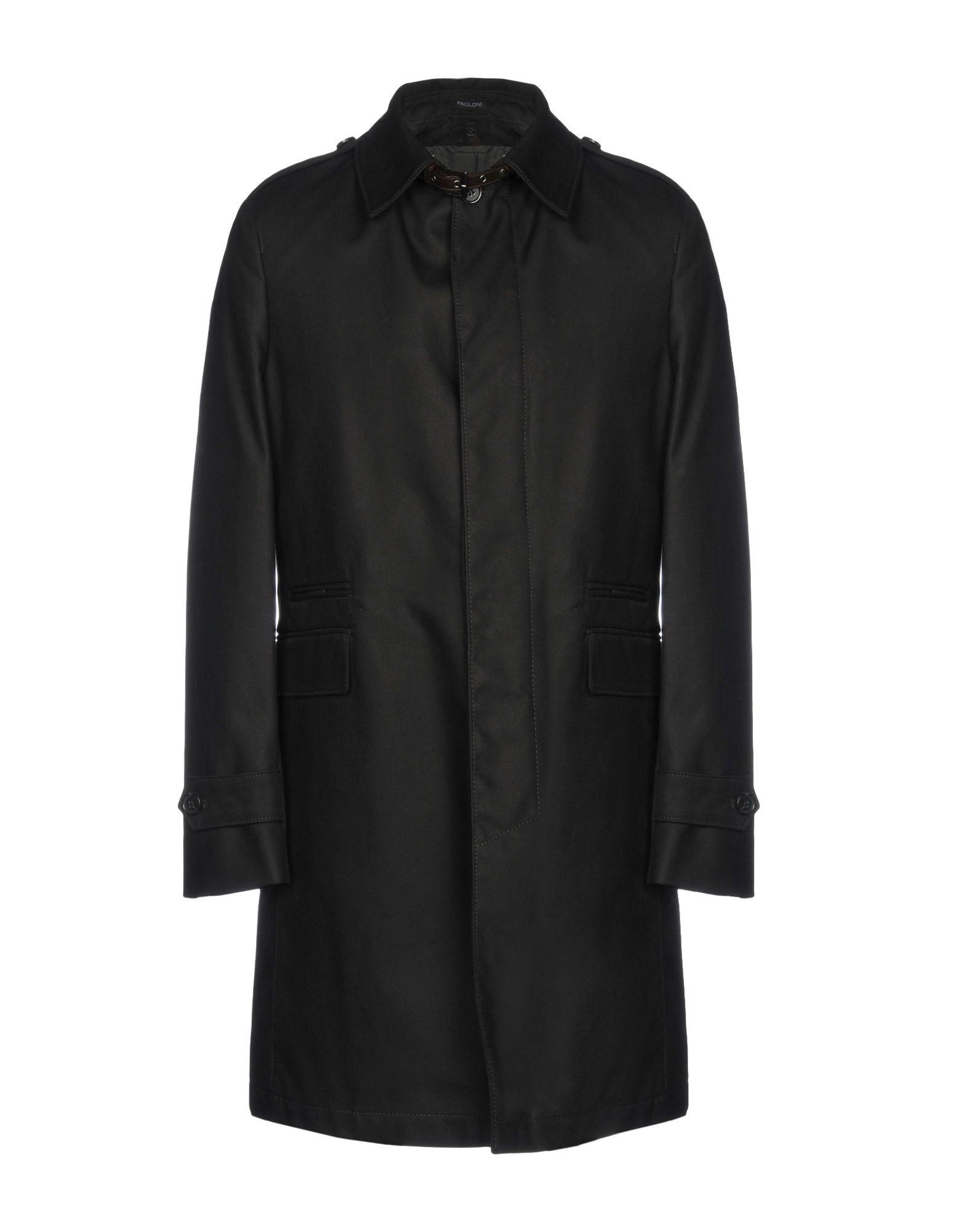 《送料無料》PAOLONI メンズ コート ブラック 50 コットン 100%