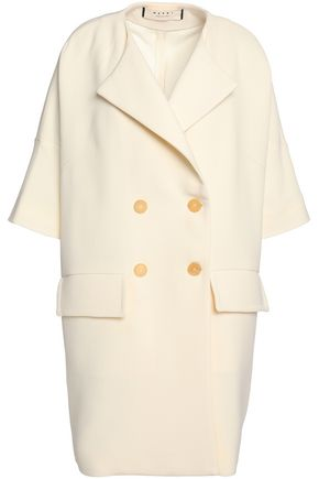 MARNI Double-breasted wool-crepe coat