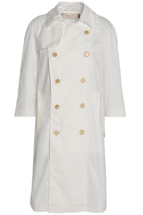 MARNI Double-breasted cotton-twill trench coat