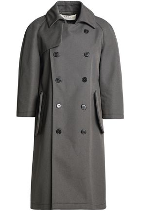 MARNI Double-breasted cotton-canvas trench coat