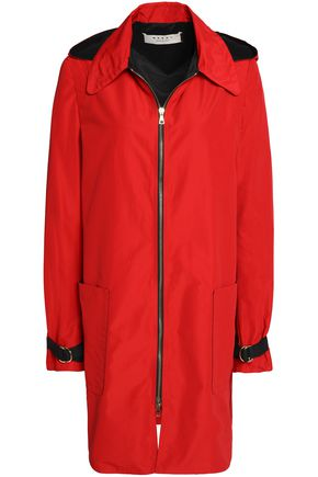 MARNI Cotton-blend hooded jacket