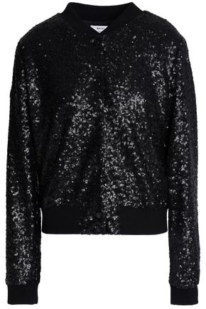 BAILEY 44 Sequined mesh bomber jacket