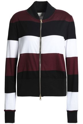 MARNI Striped cotton-blend jersey jacket