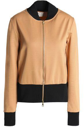 MARNI Two-tone jersey bomber jacket