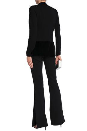 BAILEY 44 Prince Charming velvet-paneled stretch-jersey blazer