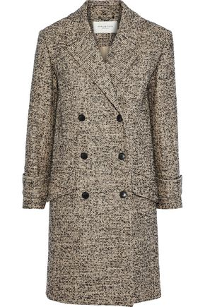 HALSTON HERITAGE Double-breasted tweed coat
