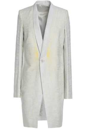 RICK OWENS Embroidered linen, cotton and wool-blend blazer