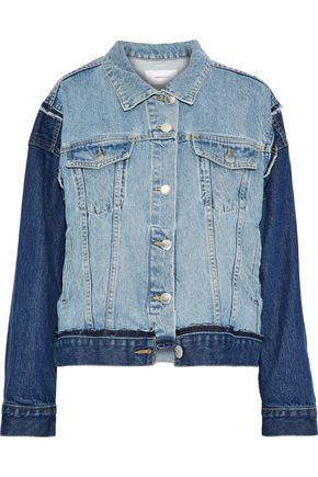 CURRENT/ELLIOTT The Carina paneled two-tone denim jacket