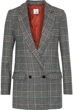 IRIS & INK Steele Prince of Wales checked wool-blend blazer