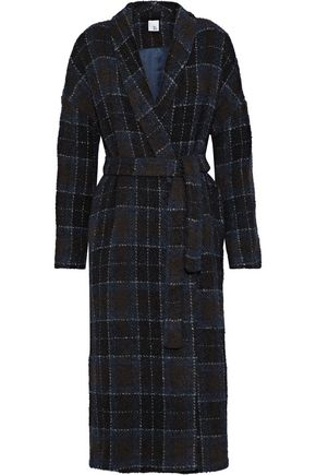 IRIS & INK Meg checked bouclé-tweed coat