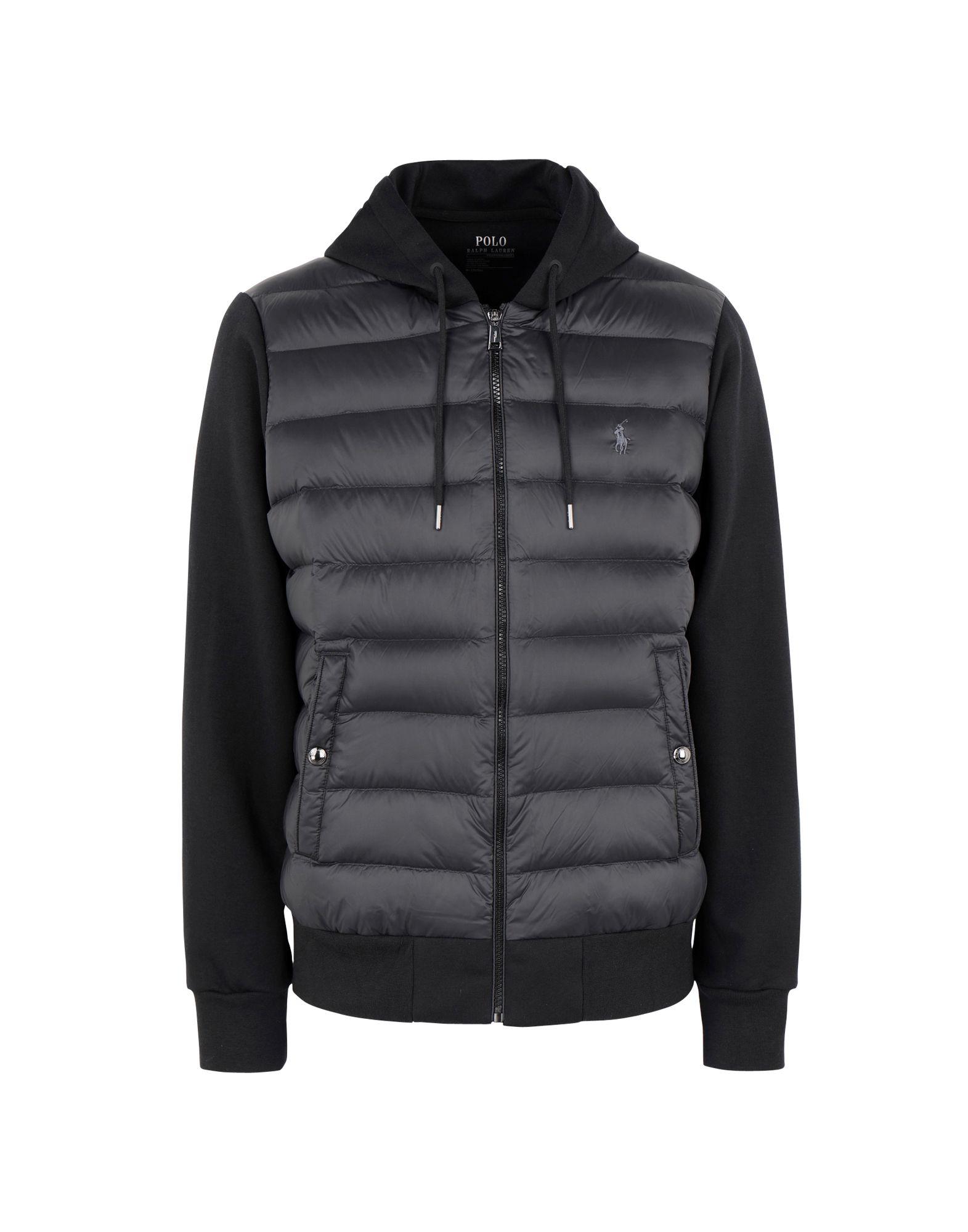 《セール開催中》POLO RALPH LAUREN メンズ ダウンジャケット ブラック XL ナイロン 100% Paneled Down Hoodie