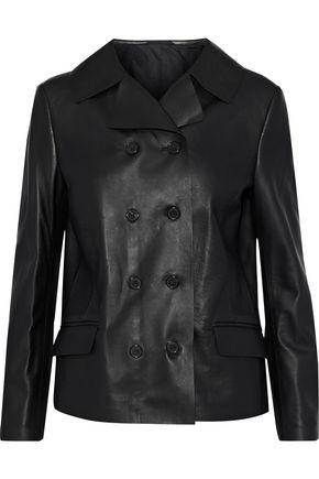 MAISON MARGIELA Double-breasted leather jacket