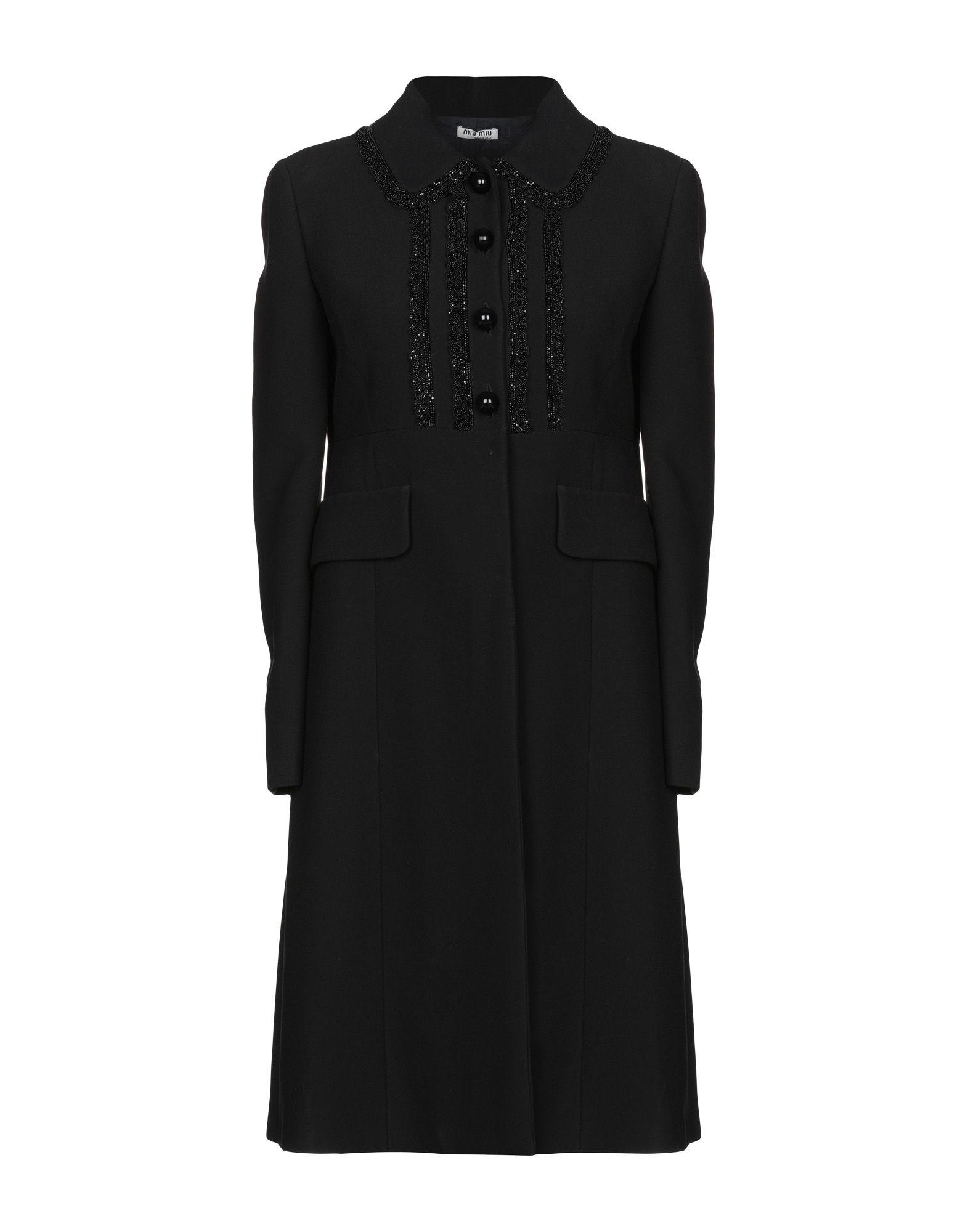 MIU MIU Пальто miu miu черный шерстяной кардиган
