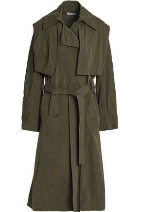 VINCE. Double-breasted woven trench coat