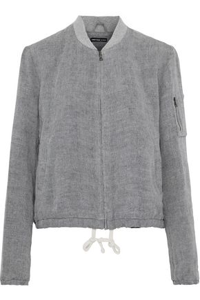 JAMES PERSE Linen bomber jacket