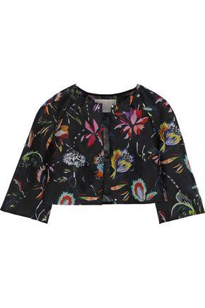 JASON WU Floral-print silk-gazar bolero