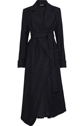 ANN DEMEULEMEESTER Metallic wool-blend coat