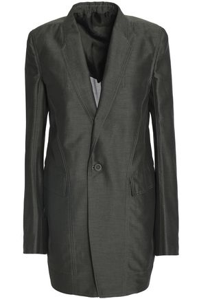 RICK OWENS Cotton and silk-blend faille blazer