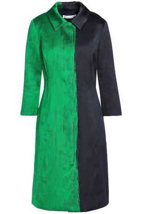 OSCAR DE LA RENTA Two-tone jacquard coat
