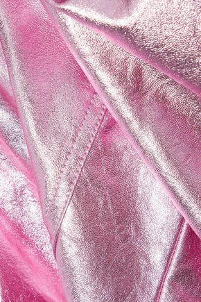 BAUM UND PFERDGARTEN Britany metallic faux leather biker jacket