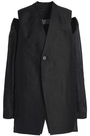 RICK OWENS Cutout silk-organza jacket