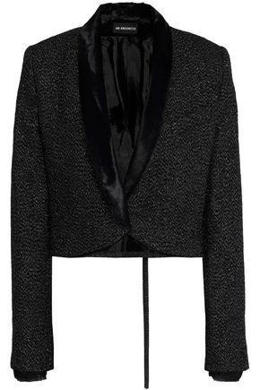 ANN DEMEULEMEESTER Chenille-trimmed metallic wool-blend crepe jacket