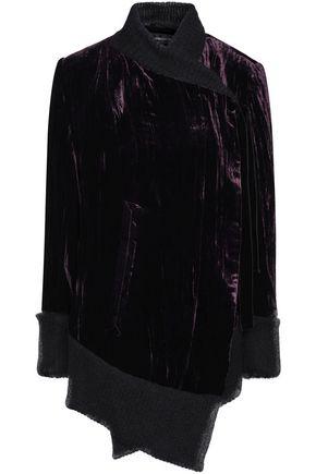 ANN DEMEULEMEESTER Bow-embellished velvet jacket